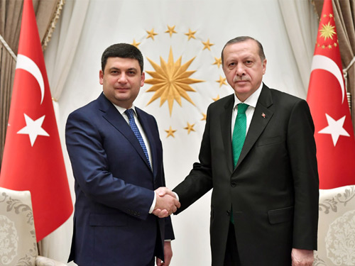 Ukrainian PM Groysman at the Presidential Complex